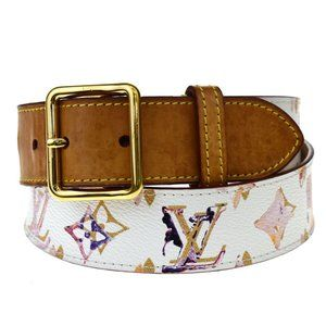 LOUIS VUITTON Ceinture Belt Monogram Water Color